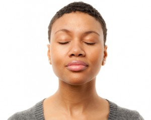 Meditative African American Woman