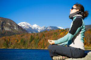Meditating by Mtn. Lake